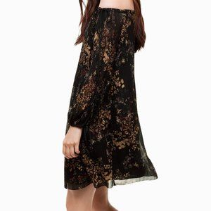 Aritzia Wilfred Raison Floral Chiffon dress S